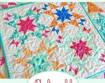PDF Pattern for Star Bright Mini Quilt