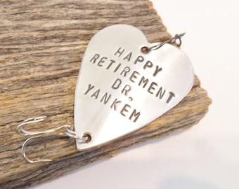 Fishing Retirement Gift for Doctor Retirement Gift Idea Dr. Retirement Gift Men Early Retirement Teacher Gift Retiring Boss Party Favor Lure