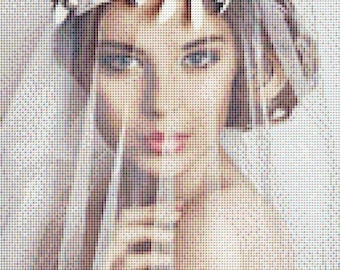 The Bride counted cross stitch chart