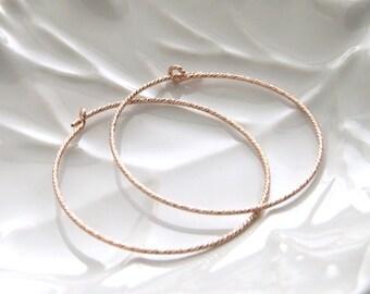 Sparkle Hoop Earrings • Simple Hoop Earrings • Thin Lightweight Hoops • Delicate Earrings • Every Day Jewelry • Dainty Hoop Earrings