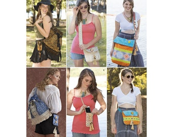 Simplicity Sewing Pattern 8356 Festival Bags in Four Sizes