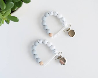 Colourblock Silicone Soother Clip // Pacifier Clip // Paci Clip // Dummy Clip // Teething clip // Chewelry// Teething // Teether Holder