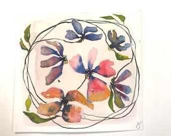 watercolor art, watercolors, watercolor flower painting, flower art