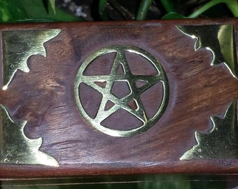 Haunted/ Wood Pentagram Recharge Box  (not a doll/vampire)