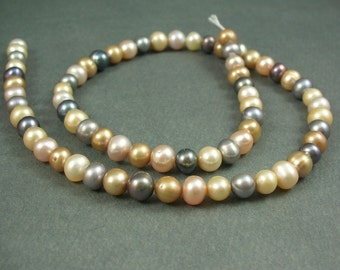 Freshwater Pearl 16 inch strand Multi Colored
