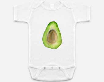 Avocado Baby Onesie / Baby Christmas Gift / Baby Clothes / Baby One Piece