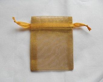 Gold 3x4 Organza Bags / favor bags set of 150 bags