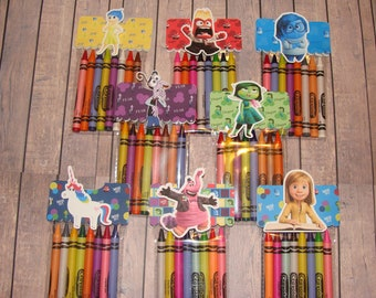 Inside Out Made To Order Crayon Favor Bags