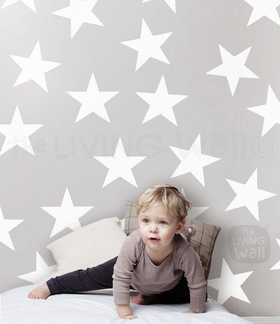 Gro e stars kinderzimmer dekoration wand aufkleber wandtattoo for Dekoration kinderzimmer wand