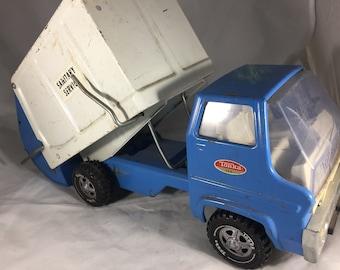 Vintage 1970's Tonka Sanitary Service Pressed Steel Garbage Truck