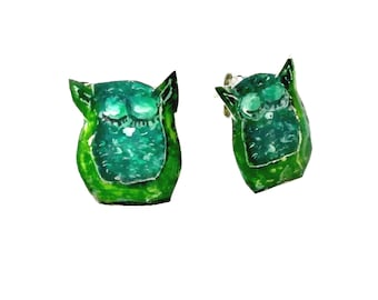Owl earrings, available after order