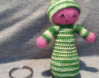 Baby Green Keychain AMIGURUMI