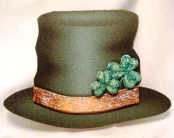 """Handmade Greeting Card - St. Patrick's Day """"Plus"""" Hat Card"""