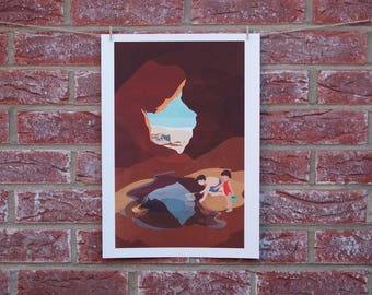 Down By The Seaside Print