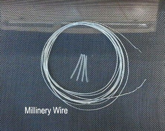 5 Yards silvery Transparent  Millinery Wire and millinery steel joiners,shapable thread for handmade hat
