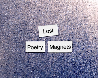 Lost Poetry Magnets - Refrigerator Word Quote Magnets - Free US Shipping