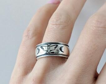Death Moth Ring