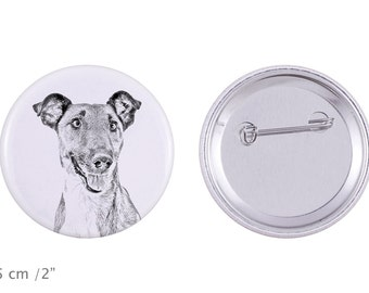 Buttons with a dog -Smooth Fox Terrier