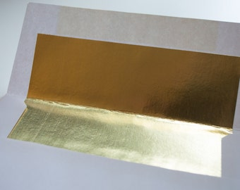 White with Shiny Gold Liner - A2 envelopes - Wholesale Pricing - so pretty!