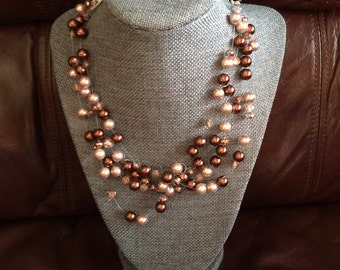Necklace of Floating Pearls