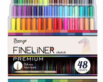 48 Colors Fineliner Sketch Marker Needle Drawing line Pen Set For School Student Design Stationery Art Marker