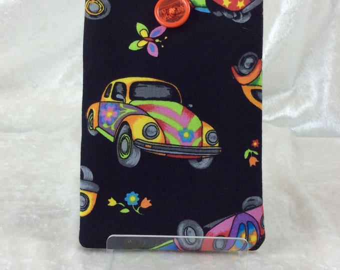Handmade Phone Glasses Case Cover Pouch  VW Beetles