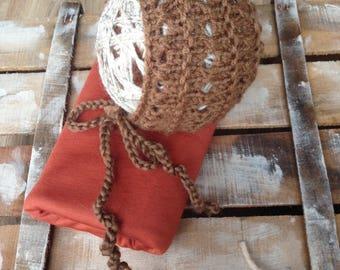 Stretch Fabric Wrap and knit bonnet; Newborn Cotton Wrap; Newborn set;Baby Wrap Prop; Wrap; Baby wrap; Newborn; Photo Prop RTS A