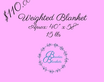 Weighted Blanket 40x58 15lbs