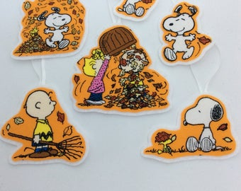 Charlie Brown Fall Ornaments-Set of 4