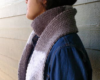 Scarf white grey scarf with Fringes, long scarf, neck warmers, hand knitted Winter Accessories scarves