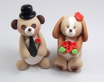 Meerkat Figurine, Dog, Wedding Cake Topper, Personalized Figurines, Animal Cake Topper