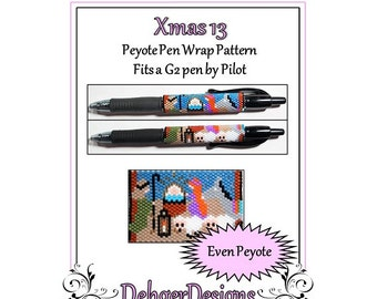 Bead Pattern Peyote(Pen Wrap/Cover)-Xmas 13