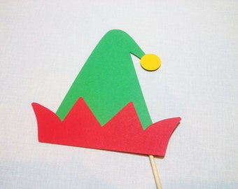 Elf Hat Photo Prop - Santa Claus Photo Booth Props - Christmas Photobooth - Christmas Photo Booth Props - Christmas Party Photobooth