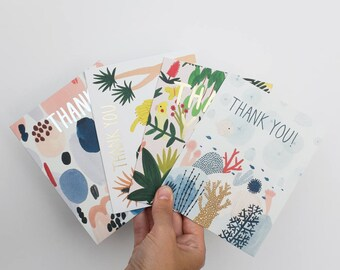Thank You Card Pack of 4
