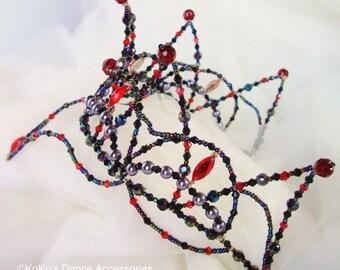 Black Swan, Odile ballet tiara, Black & Red. Odile