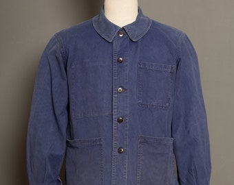 French Blue Faded Worker Jacket 1950 (M)