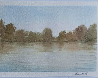 An early autumn afternoon by Bolam Lake.