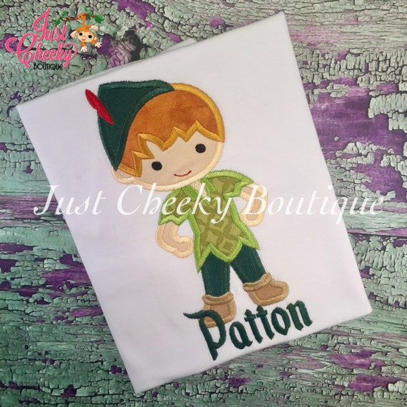 Peter Pan Cutie Embroidered Shirt - Neverland Inspired - Disney Vacation - 1st Disney Trip - Disney Birthday