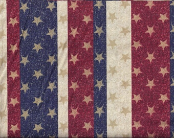 Stars and Stripes Glitter Curtain Valance