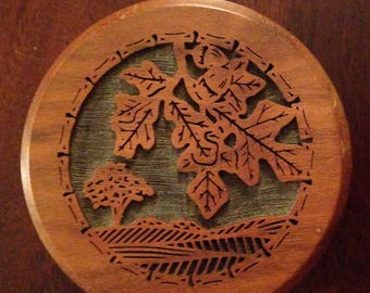 Laser Carved Walnut Wood Paperweight