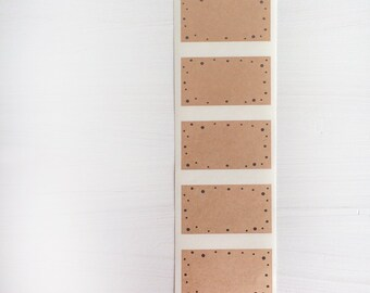 kraft labels - confetti