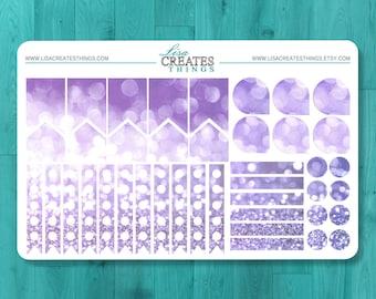 Glitter Pattern - Sticker Set - Planner Sticker Sheet