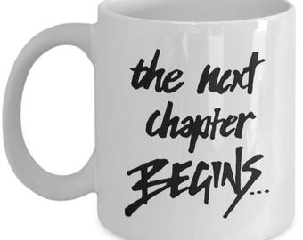 Graduation Gift Mug for Him, Her - College Graduate Art Coffee Cup - 'The Next Chapter Begins' // By Mark Bernard - sketchnkustom!