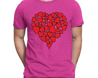 Heart Of Hearts Valentines Day Love Holiday Gift Idea Romance Romantic  Men's T-shirt SF-0445
