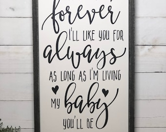 Nursery Decor Kids Decor Nursery Sign Wood Sign Sign Sayings, Quote Signs,  Baby Shower