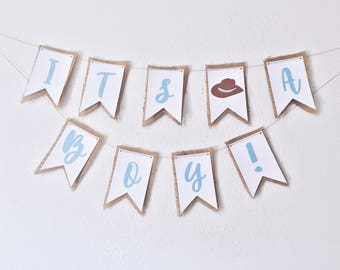 Cowboy Themed Baby Shower Banner