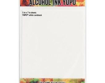 Ranger Ink - Tim Holtz - Alcohol Ink Yupo Paper - White