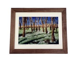 Snowdrops print, snowdrops painting,- A Giclee print of an original acrylic painting by Lydia Dawson Artwork.