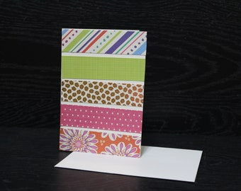 Tropical Floral Note Cards, Blank Cards with Envelopes
