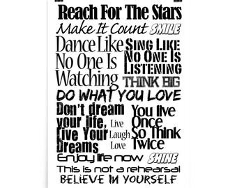 Motivational Poster. Typography print. Motivational Wall Decor.